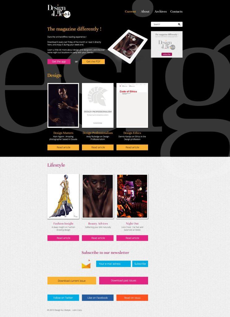 Page d'accueil Design & Lifestyle