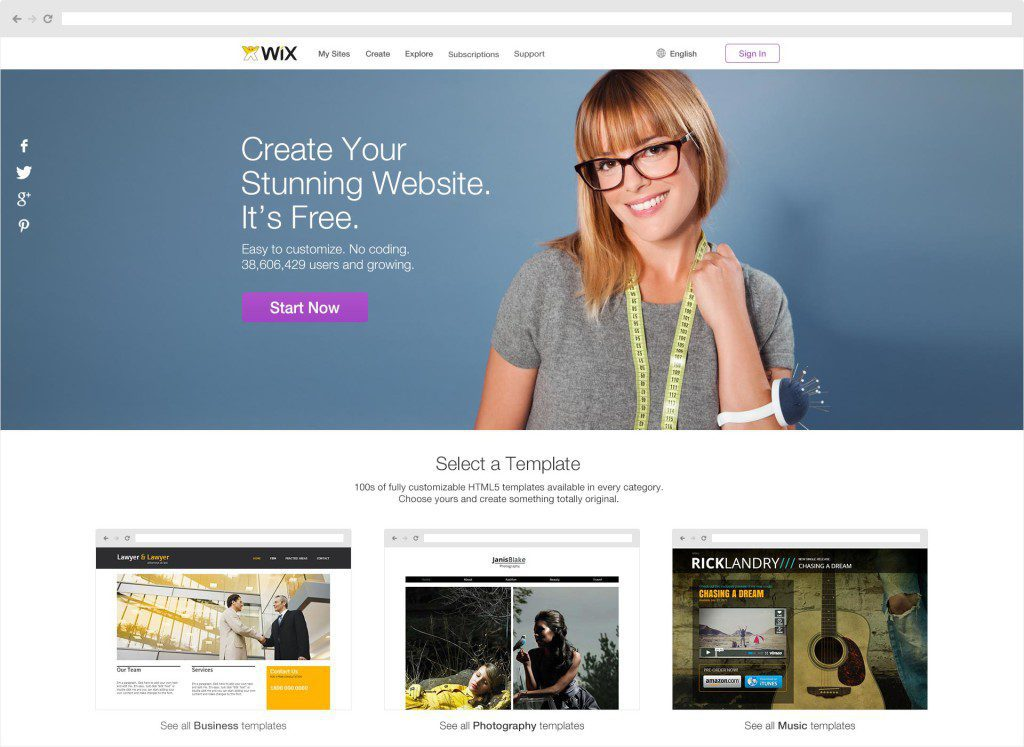 Wix-Home-page