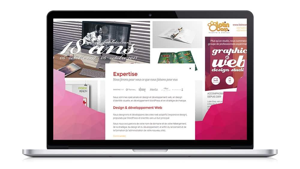 Work in progress, nouveau site web pour Lotin Corp.