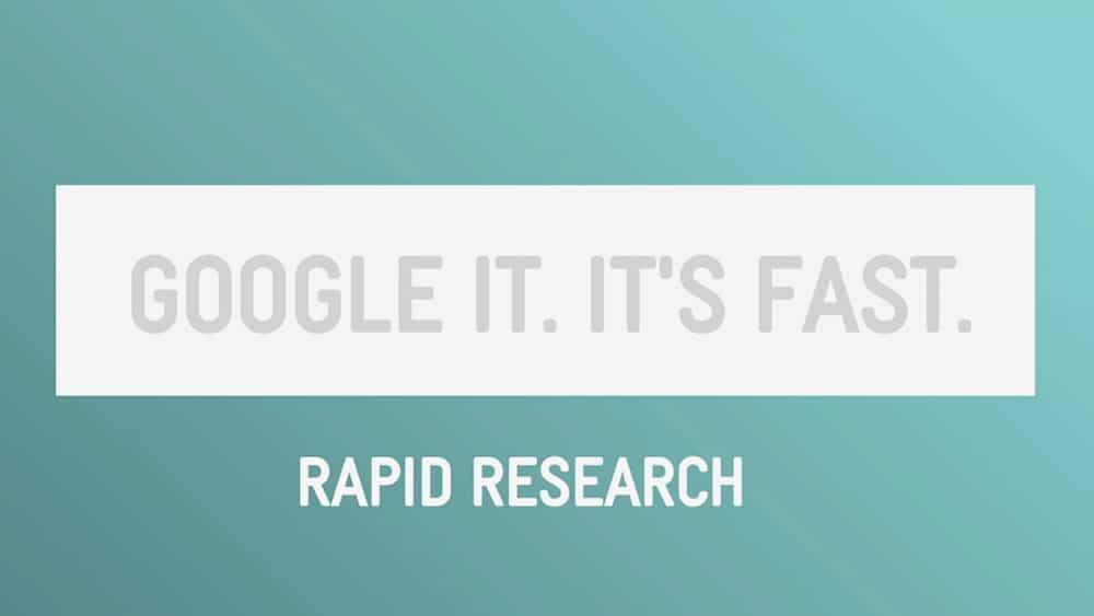 Googlez-le. C'est rapide. - Recherche rapide.