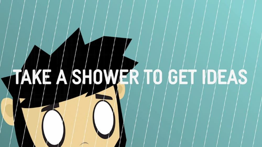 Prenez un bain pour avoir des idées