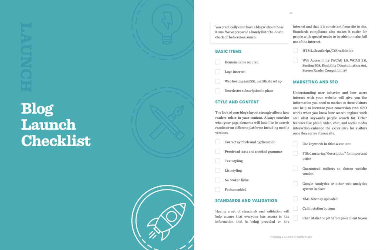 Designer et lancer son blog en 7 jours - Lancement
