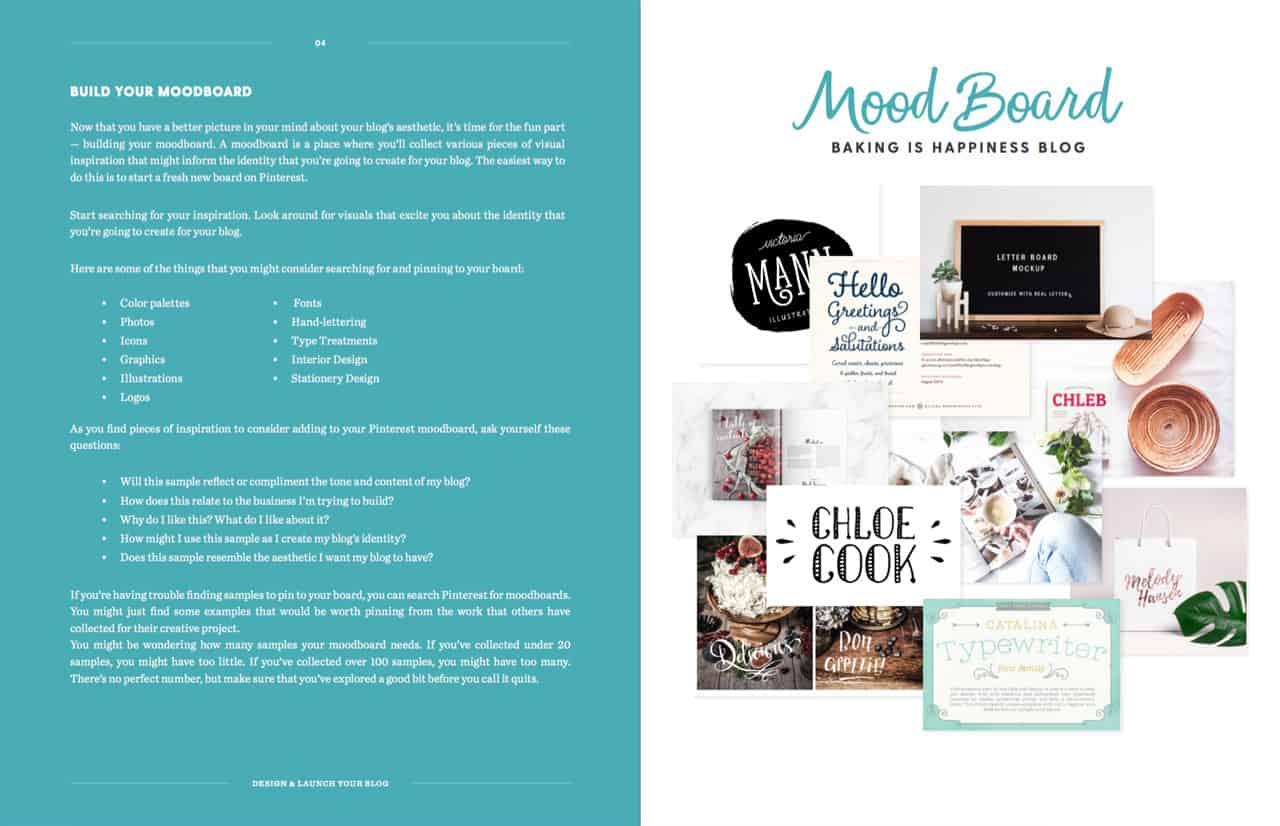 Designer et lancer son blog en 7 jours - Moodboard
