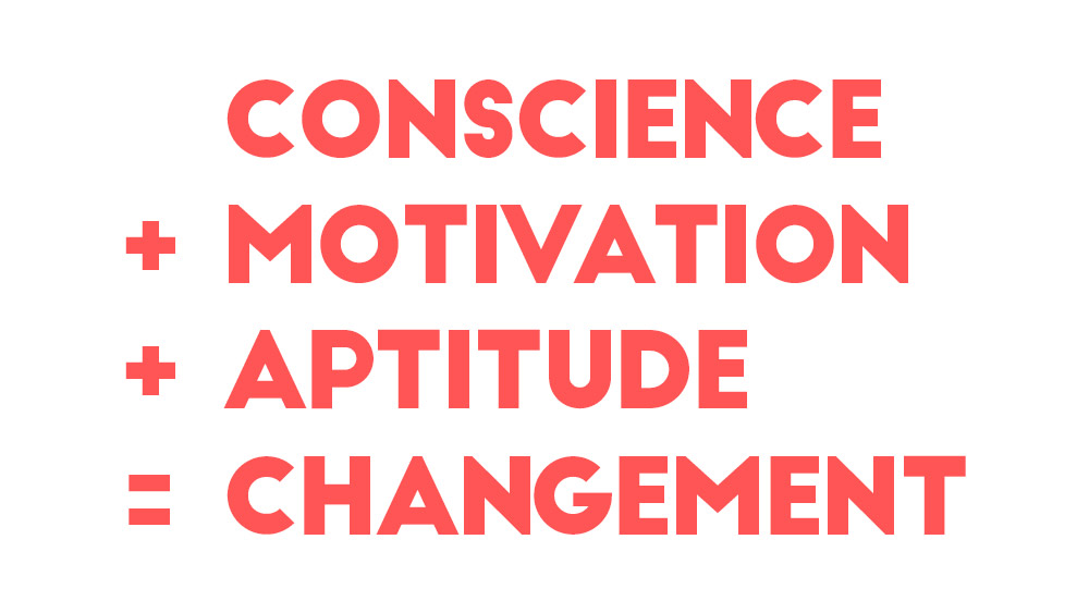 Conscience + Motivation + Aptitude = Changement