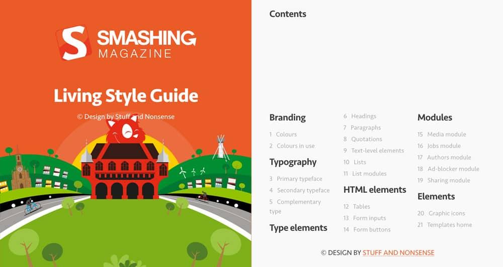 Différence identité visuelle et charte graphique. Charte graphique en ligne Smashing Magazine.