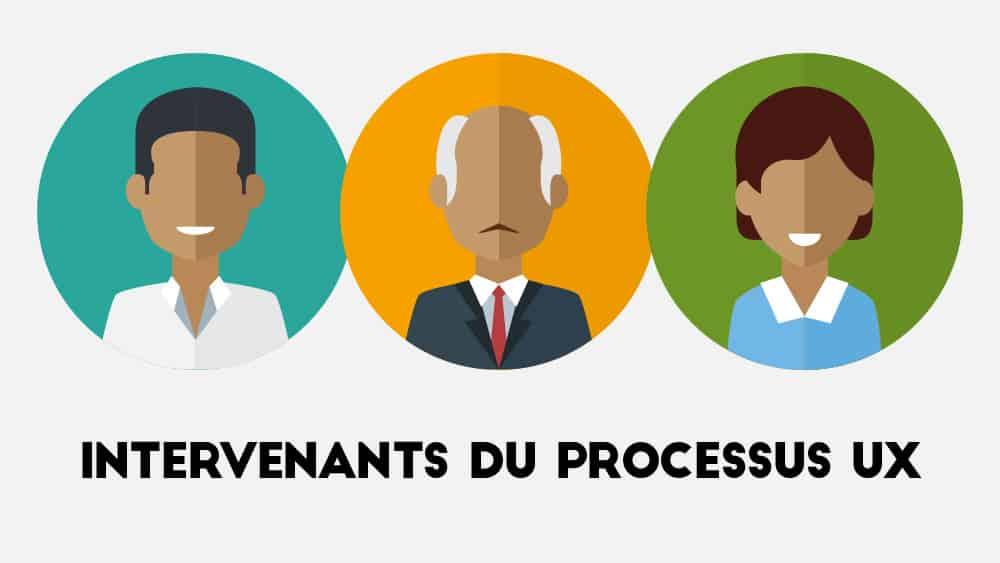 Les intervenants du processus UX : UI Designer, Chercheur & Product Manager