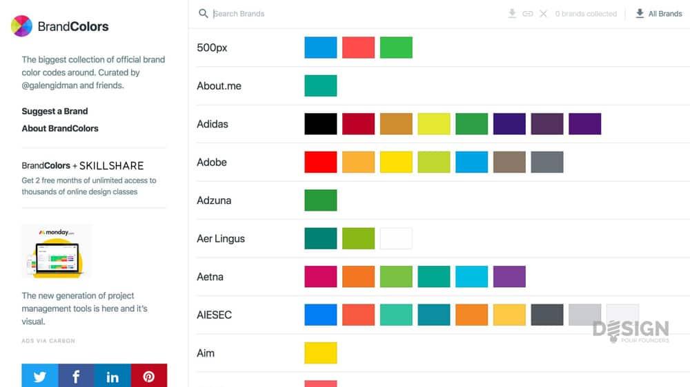 Couleur en lean design : Brandcolors, pour l'inspiration