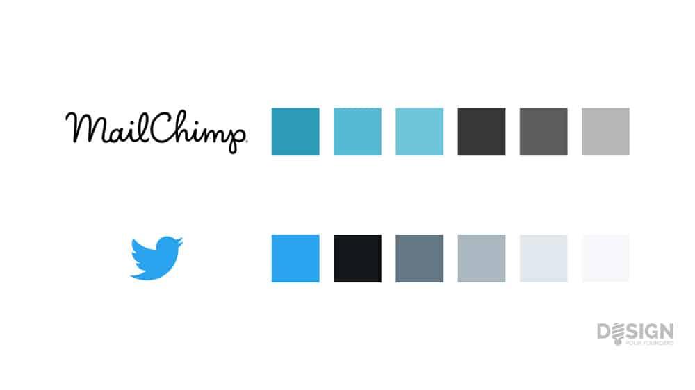 couleur en lean design : Twitter