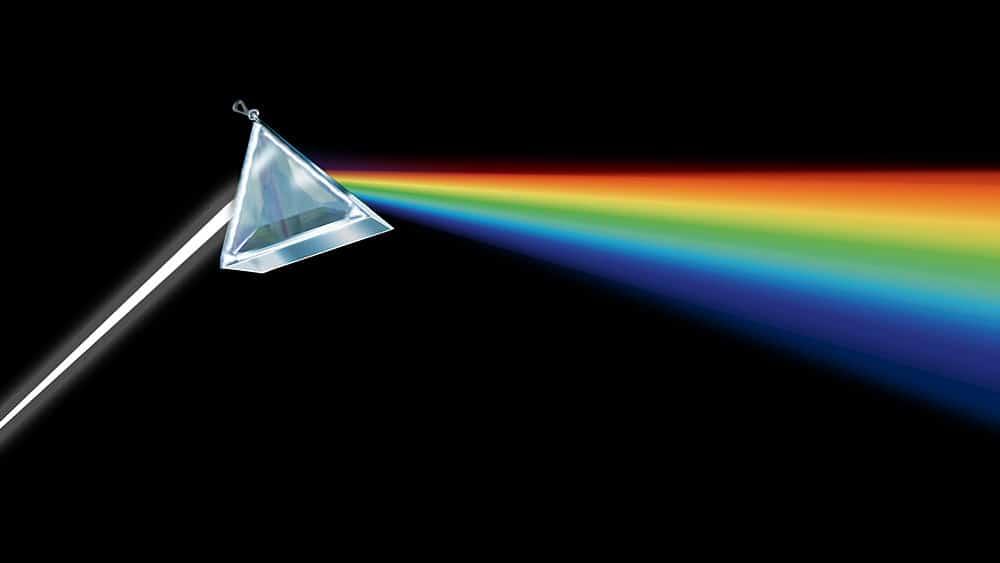 théorie de la couleur : spectre de la lumière blanche