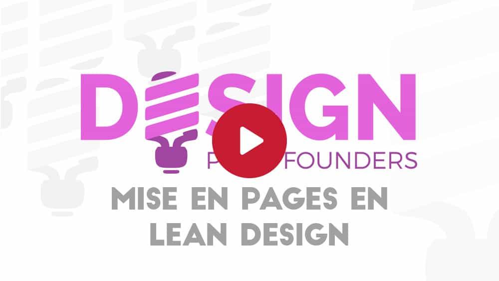 Mise en pages en Lean Design
