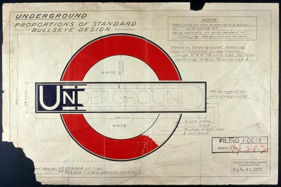 design graphique London Underground
