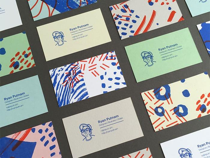 design graphique : cartes de visites par Ryan Putnam, illustrateur