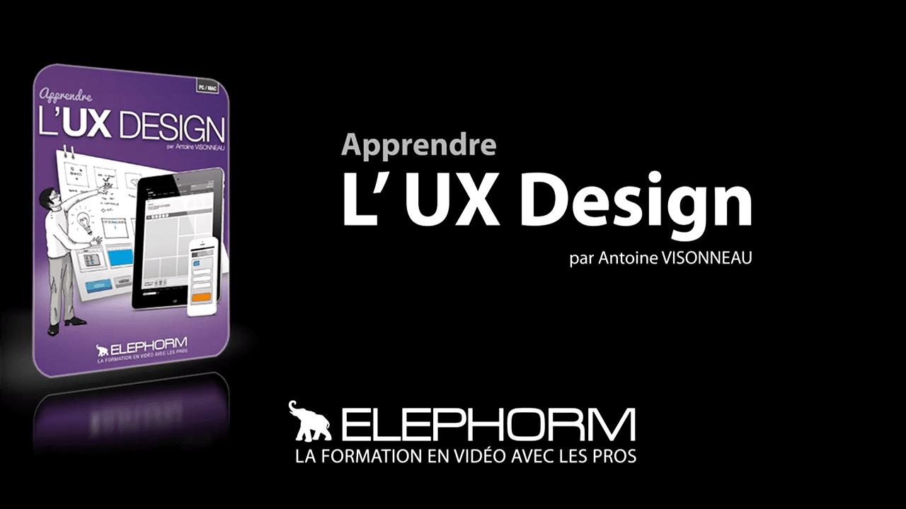 apprendre ux design elephorm visonneua